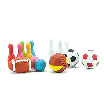 Iwako Japanese Sports Eraser Set: Toys & Games
