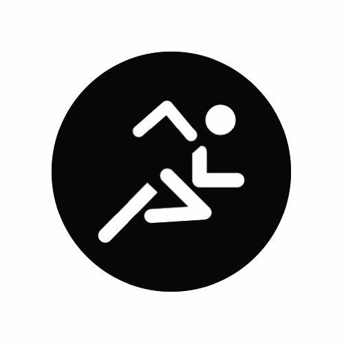 (2x) Running - Marathon - Triathlon - Sticker - Black - Decal - Die - Is Triathlon What Order A