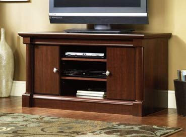 Amazoncom Tv Stand For 50 Inch Tv Cherry Wood With Two Hidden