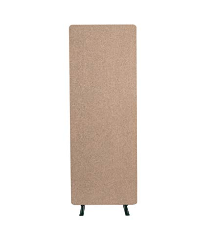 "ReFocus Acoustic Room Dividers | Office Partitions – Reduce Noise and Visual Distractions with These Easy to Install Wall Dividers (24"" x 66"" Freestanding, Sand Stone)"