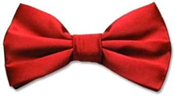 NEW Adjustable Satin Bow Tie Red