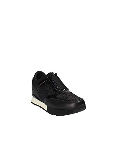 H Wedge Tommy Fw0fw03553 Elastic Black 1dfdcqWpw
