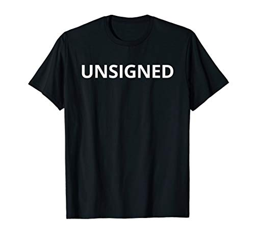 Unsigned Tshirt | T shirt / Word Only Tee White Font from Unsigned T-shirt Co. #Unsigned
