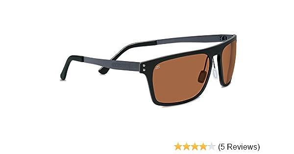 84d9000f7a Amazon.com  Serengeti Sunglasses Ferrara 7894 Satin Black Polarized Phd  Drivers Brown  Shoes
