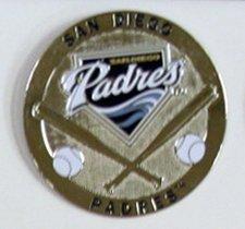 San Diego Padres Round Metal Magnet