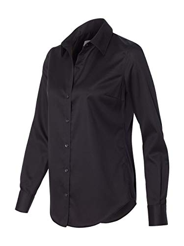 - Calvin Klein 13CK034 Women's Non-Iron Micro Pincord Long Sleeve Shirt Black Medium