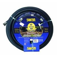 Swan Premium Rubber SNCPM58100 Heavy Duty 5/8-Inch by 100-Foot Black Water Hose (Water Swan Hose)