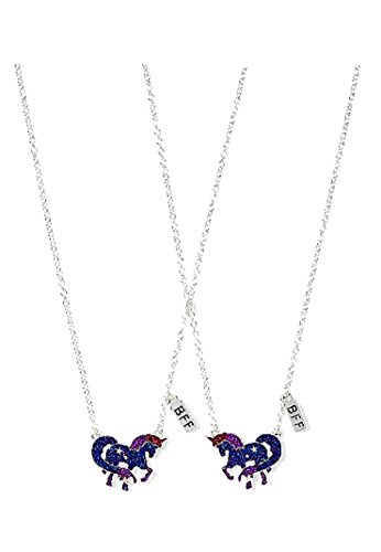 F Best Friends 2pc & 3pc Necklace Sets (Glitter Unicorn Pendants) ()