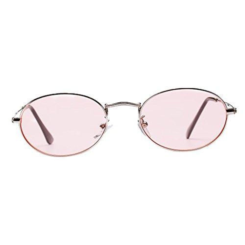 Astilla de Espejo blanca Hombre Mujer 50 Unisex mm Metal Accesorios Plano Rosa Gafas Dolity UV400 Vintage xTqSPwpnR