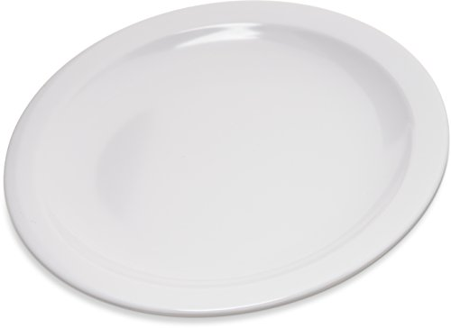 "Carlisle 4350402 Dallas Ware Melamine Pie Plate, 6.5"" Diameter x 0.70"" Height, White (Case of 48)"