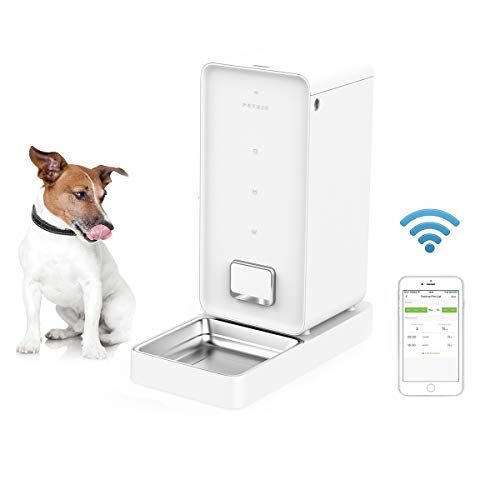 PETKIT Automatic Dog Feeder, Smart Pet Food Feeder for Cats and Dogs - A Never Stuck Auto Dog Food Dispenser, Wi-Fi App Control, Timer Programmable, Work with Alexa, 5.9L Large Capacity