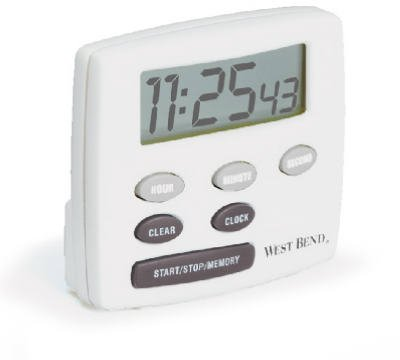 West Blend Housewares #40055 White Electric Timer/Clock