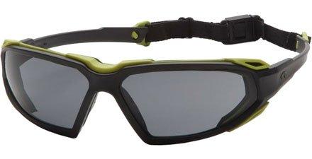 Pyramex Highlander Safety Eyewear, Gray Anti-Fog Lens With Silver/Black Frame