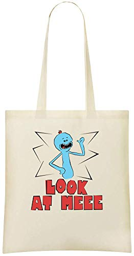 Meeseeks Everyday 100 Bag Shoulder Mr Printed Stylish Custom Eco Use For Bags Custom Grocery amp; Friendly Soft Meeseeks Tote M Handbag Cotton dFqwBd