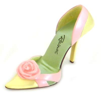 Steadfast Rose Collectible Miniature Shoe - Just the Right Shoe by Raine