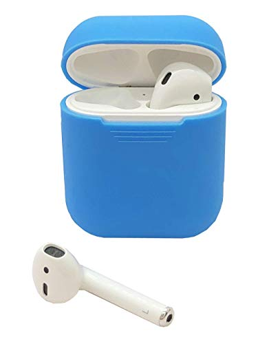 HappyCover Compatible for Airpods Case 2 & 1, Protective Silicone Cover Skin for Airpods Charging Case (Baby Blue)