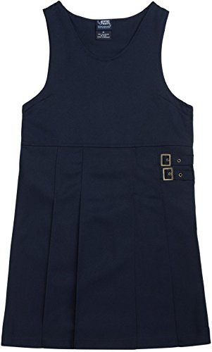 FRENCH TOAST School Uniform Girls Twin Buckle Tab Jumper - Y9075 - Navy, 6
