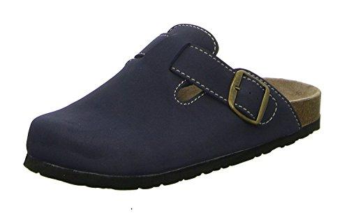 Softwaves 276-002 Mujer Zapatillas De Estar Por Casa Zuecos clásico azul marino