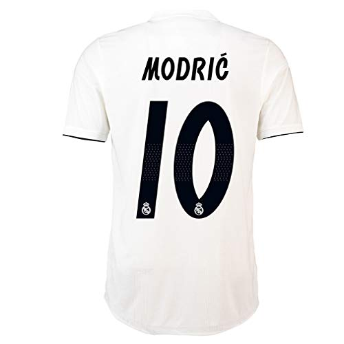 Luka Modric Soccer Jersey Mens Real Madrid 10  2018 2019 Home Jersey White  (m) dc2dc2947