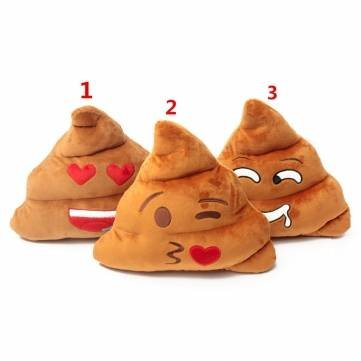1PCS Cute Funny Emoji Poo Shape Plush Stuffed Doll Toy Gift Decor #2 by Completestore