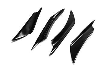 Vidrio de cristal para Hyundai Veloster (Turbo) parachoques delantero Canard divisor de labios aleta Valance barbilla exterior Kit: Amazon.es: Coche y moto