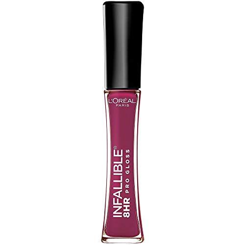 L'Oreal Paris Makeup Infallible 8 Hour Lip Gloss, Comfortable & Hydrating Formula, Undeniable Mauve, 0.5 fl.oz.