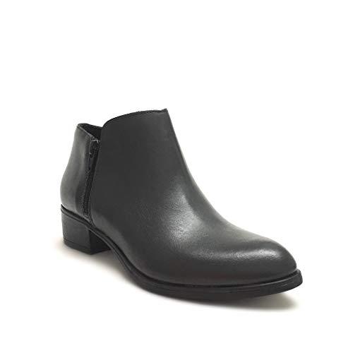 Grigio In Doppia Shoe Texani Made Bassi Con Grigi Stivaletti Donna Vera Italy Zip Gar Pelle rqwq71Y6