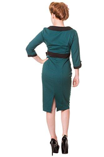 Pin Style up Wiggle Green 1950's Dress Retro wavxq7dnw