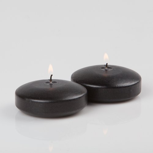 96 Black Richland Floating Candles 3'' by Richland