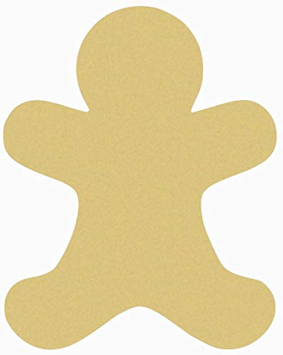 MarthaFox Gingerbread Man Unfinished Wooden Craft Shape Wooden Gingerbread Craft Cutout Wood Unpainted Wall Door Hanger DIY Christmas Decor ()
