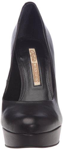 Buffalo London 19952-886 NAPPA 122601 - Zapatos de tacón de cuero para mujer Negro (Schwarz (Black 01))