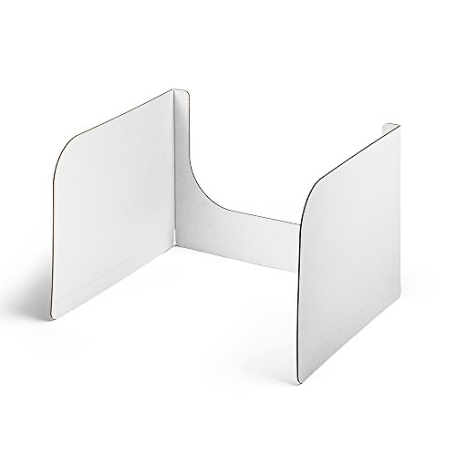 Classroom Products Privacy Shield 13 Inch Tall w/Window - White - (Pack of 40) -