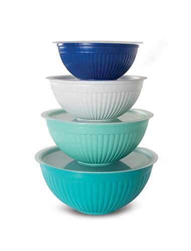 Nordic Ware 69518 Covered Bowl Set, 8-pc, Set of 8, Coastal Colors