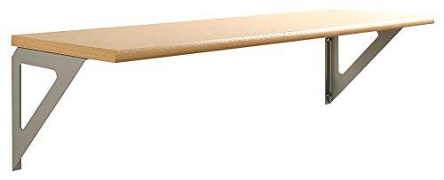 Element System Wandregal, Regalset Triest, 800 x 250 x 16 mm, Holz, weißaluminium, 11305-00002