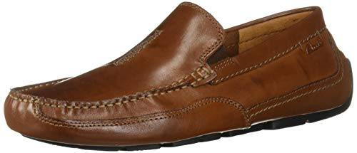 CLARKS Men's Ashmont Race Driving Style Loafer Cognac Leather 130 M US