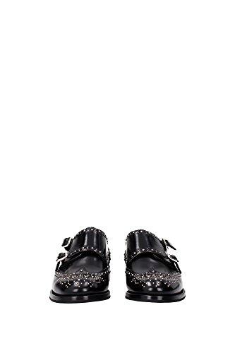 CHURCH'S Women's Lace-Up Flats black black Black discount price L3MMn88MG1