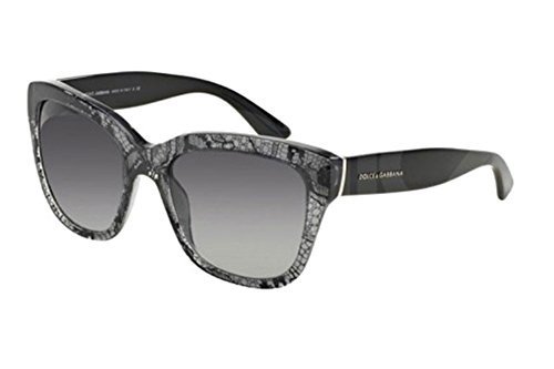 Dolce & Gabbana DG 4226 Sunglasses in 28548G Black Lace Grey - Eyewear Lace Dolce And Gabbana