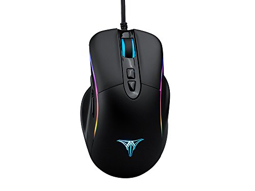 ZD Talentech Ember Plus [10,000 DPI] Ergonomic USB Wired RGB Gaming Mouse Mice PC/Laptop(Windows 10/8/7/XP), Linux, 7 Programmable Buttons, PMW3325 Sensor, MMO/MOBA/FPS – [Black]