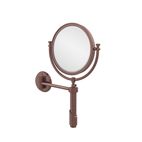 - Allied Brass TRM-8/2X-CA Tribecca Collection Wall Mounted Make-Up Mirror 8 Inch Diameter with 2X Magnification Antique Copper