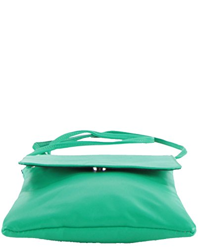 histoireDaccessoires - Clutch de Cuero de Mujer - PO155734-GE-Capucine Verde-Verde