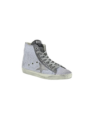 Golden Goose Hi Top Sneakers Donna G30WS591A45 Glitter Argento