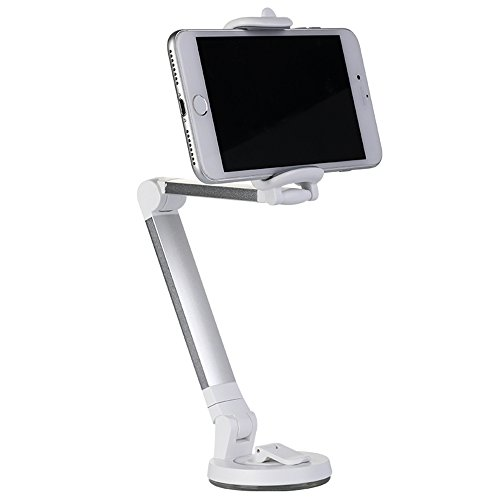 J Market Desktop Folding Stand 360 Rotatable Phone Holder   Car Phone Mount Holder Compatible With Smartphone In Width 3 5  6 3  Iphone 7  7 Plus 6S   6 Plus  Samsung S6   S7  Silver