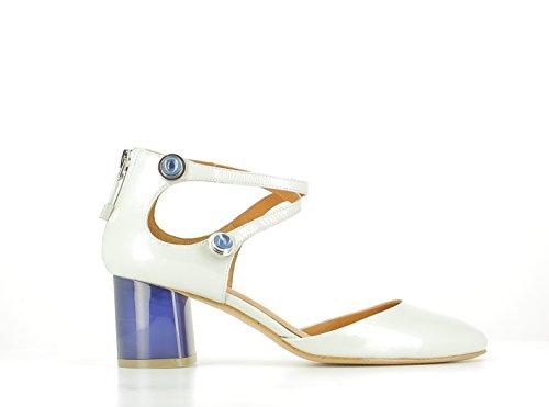 What For Zapatos de Tacón Bajo, Azul Claro, T. 36