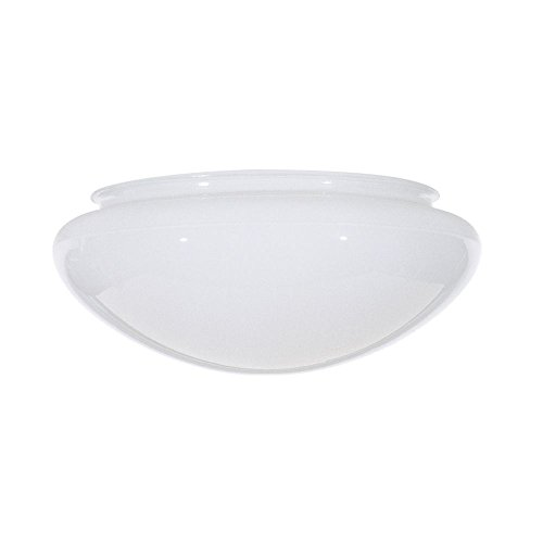White Bowl Dome Glass Shade product image