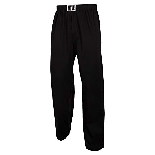Title Boxing Cotton Jersey Pants, Black, Medium