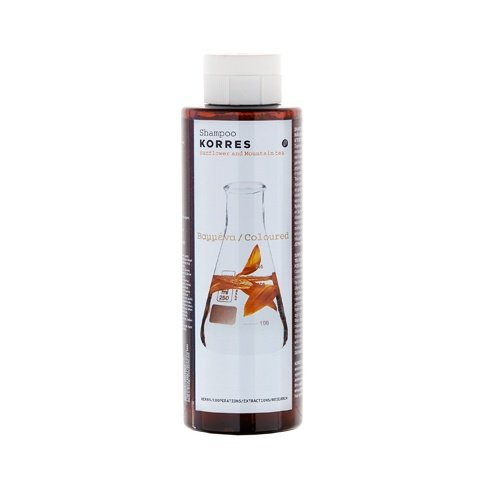 Price comparison product image 6 X Korres Sunflower and Mountain Tea Shampoo For Coloured Hair - 6 Bottles X 250ml/8.45oz each one