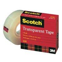 Scotch Transparent Film Tape 1/2 In. W X 72 Yd.
