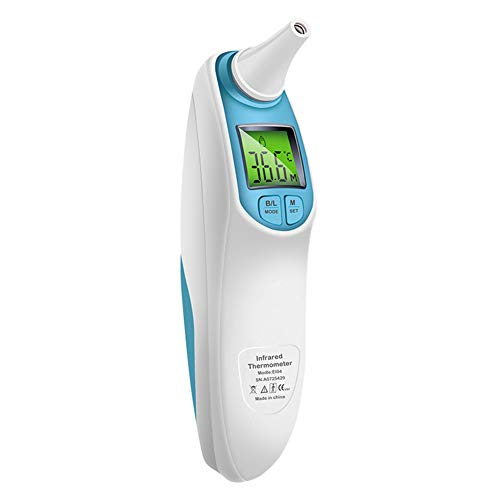 RORASA Forehead Ear Thermometer with Digital Indicator Professional Infrared Fever Thermometer for Baby, Kids (Blue) by RORASA (Image #1)
