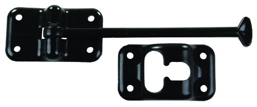 (JR Products 10434 Plastic T-Style Door Holder - Black, 6