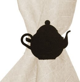 Village Wrought Iron NR-70 Teapot Napkin Ring - Black by Village Wrought Iron